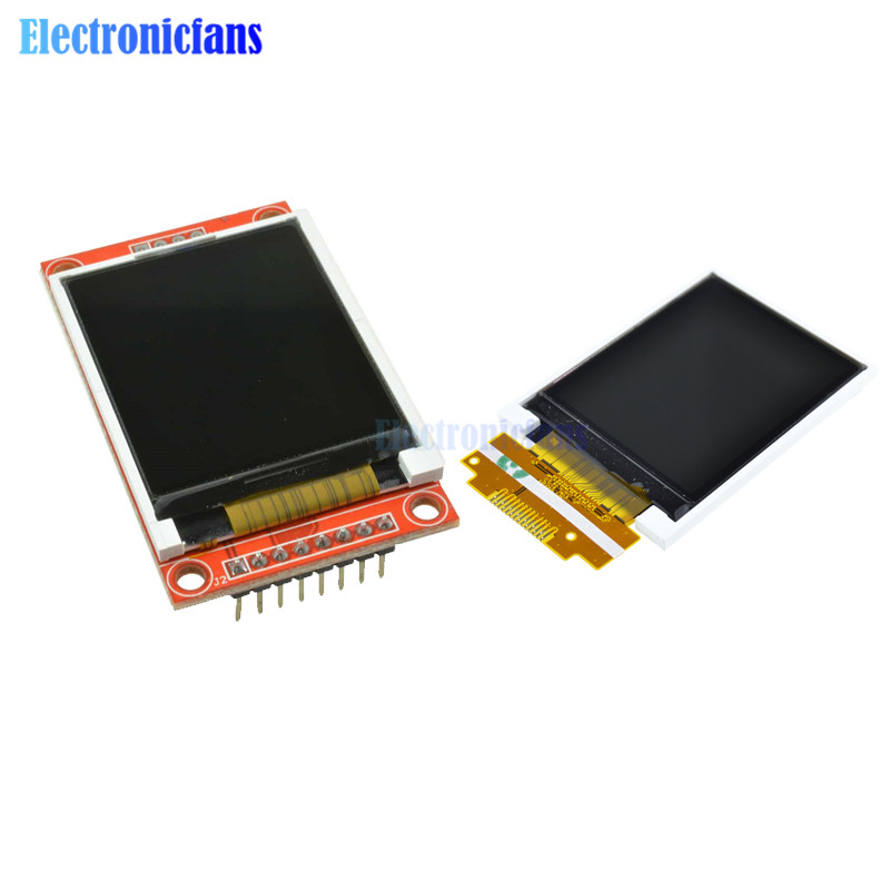 1.8 Inch TFT LCD Module LCD Screen SPI Serial 51 Drivers 4 IO Driver TFT Resolution 128*160 1.8 Inch TFT Interface 8PIN Micro SD