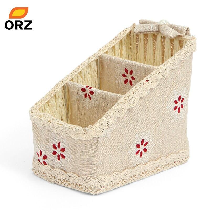 ORZ Boîte De Rangement Maquillage Cosmétique Organisateur Support De La Télécommande Home Office Bureau Décoration Vaisselle Conteneur De Stockage Panier