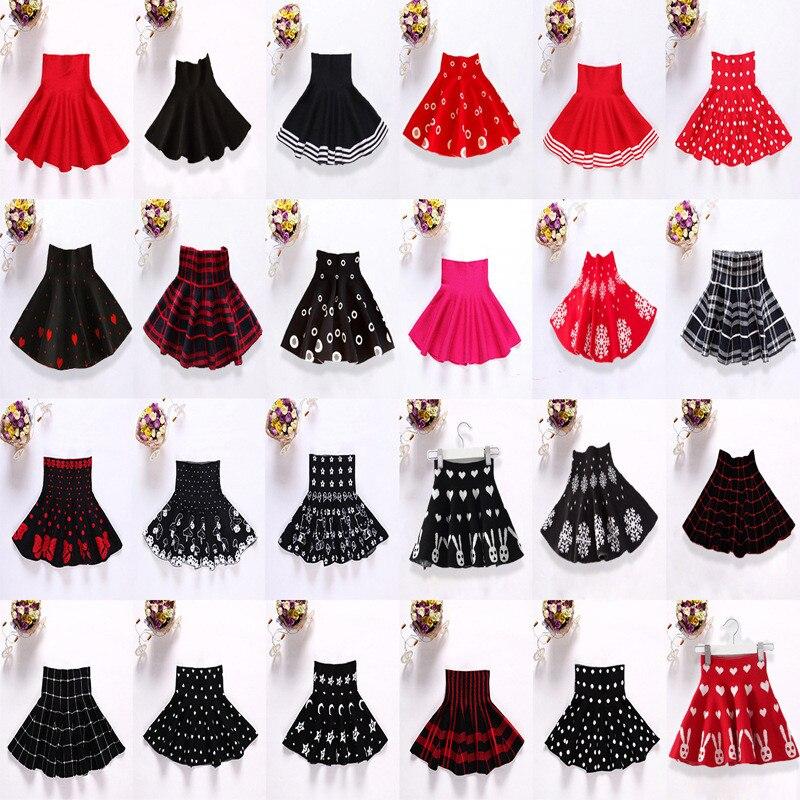 91e06d5a3 Autumn Winter Baby Girl Skirt Knitting Party Saias Skirts Girls Tutu  Children Clothing Casual Faldas Jupe Infantil Kids Clothes