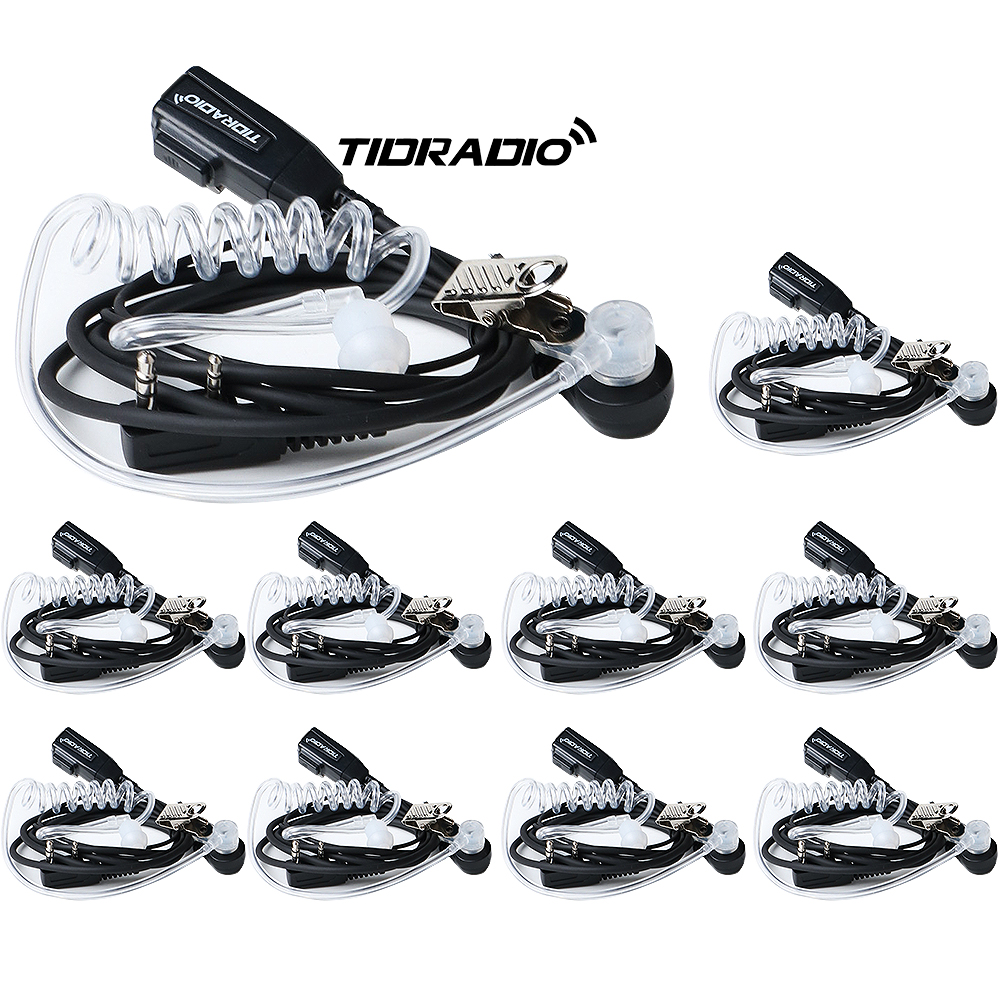 10 Pcs/lots TID 2 Pin PPT Air Acoustic Tube Headphones For Two Way Radio CB Radio Baofeng Accessories Headsets Uv-5r Bf-888s