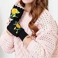 Новый международный Winter Warmer Пальцев Вязаные Перчатки Трикотажные Половины Палец женщина запястье перчатки