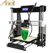 Анет A8 A6 3D принтер широкоформатной печати Размеры Высокая точность RepRap Prusa i3 3D-принтеры комплект DIY с Бесплатная 1 кг нити 8 ГБ SD карты