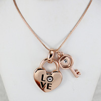 Fashion OL couple lock LOVE exquisite necklace item jewelry