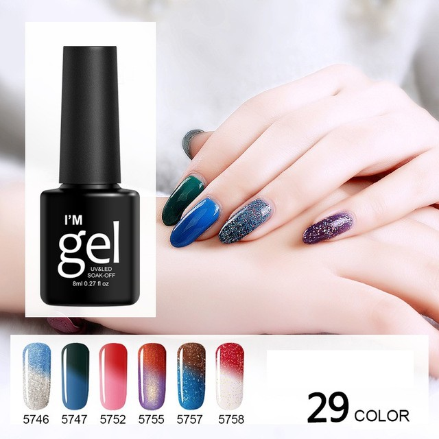 Temperature Change Nail Glue Sarness Magic Nail Gel Polish UV Gel ...