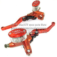 Hydraulic Brake Lever Left And Right For Electric Motorcycle Scooter CNC Aluminum 5 Adjuster Lever M10