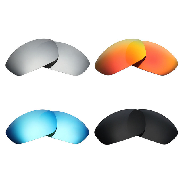 c8a58fa6ee 4 Pairs Mryok POLARIZED Replacement Lenses for Oakley Straight Jacket 2007  Sunglasses Stealth Black   Ice