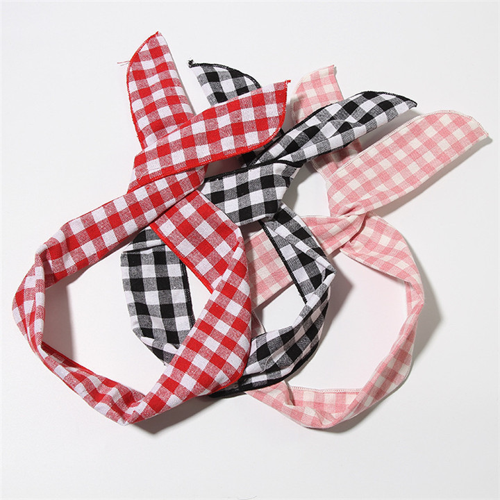 7 Metal Wire Scarf Headband Headwear Women Rabbit Ear Hairband Fabric Hairwrap Tie Head Band Bowknot Hair Accessories For Women 30