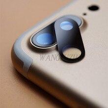 """WANGFUZHI 2 шт./партия, стеклянный объектив для камеры iPhone 8 Plus 5,"""" ; сапфировое стекло с одним стеклом без рамки, Запасная часть"""