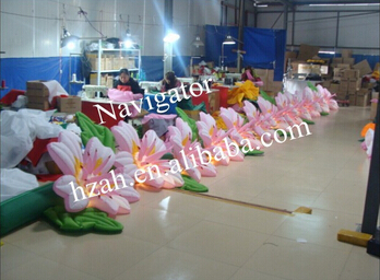 Automatically Lighted Inflatable Flower For Wedding Decoration