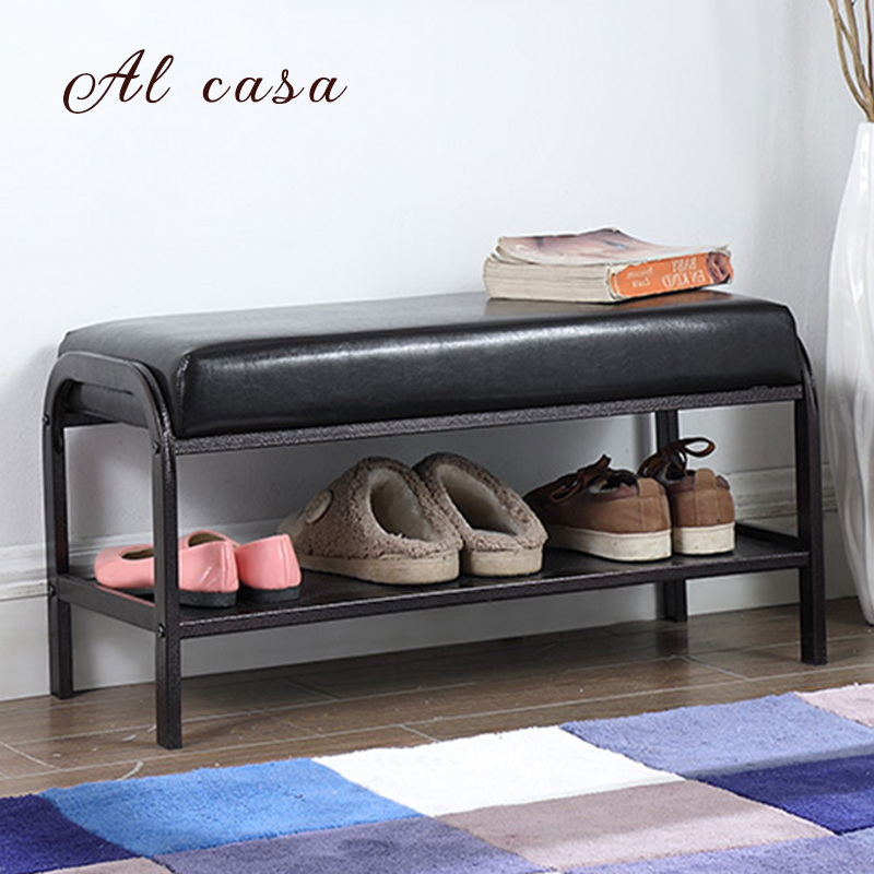 hallway shoe stool bench storage rack  ottoman iron frame PU cushion living room furniture laptops just the stepstm for dummies®