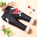 BibiCola children mini mouse thicken pants windproof winter velvet pants girls baby winter pants of kids girls child trousers
