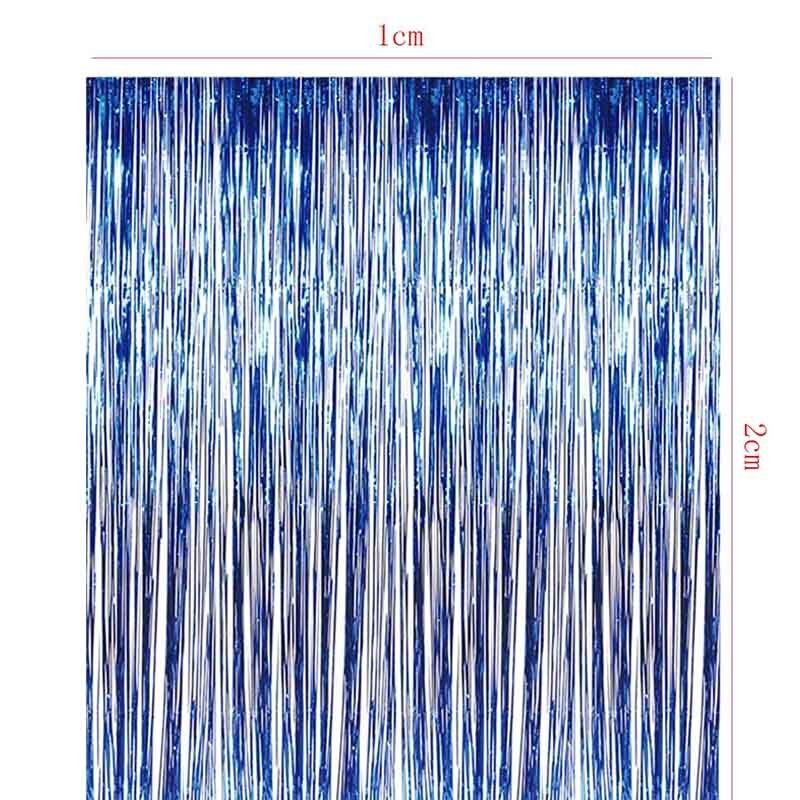 Tronzo 1 * 2 M Nieuwe Tinsel Folie Fringe Gordijn Voor Deur Window - Feestversiering en feestartikelen - Foto 5