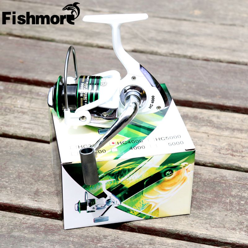 DEUKIO 2017 fishing reel spinning good pesca carretilha HC white 12+1BB aluminum spool handle and knob peche smooth molinete