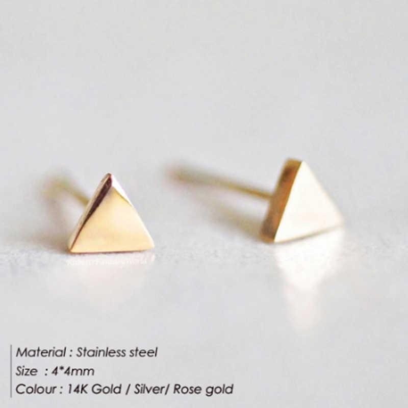 Stainless Steel Anting-Anting Aretes De Mujer Lucu Anting-Anting Kecil Earringsoorbellen untuk Vrouwenearrings Stud/Boucle Doreille Femme