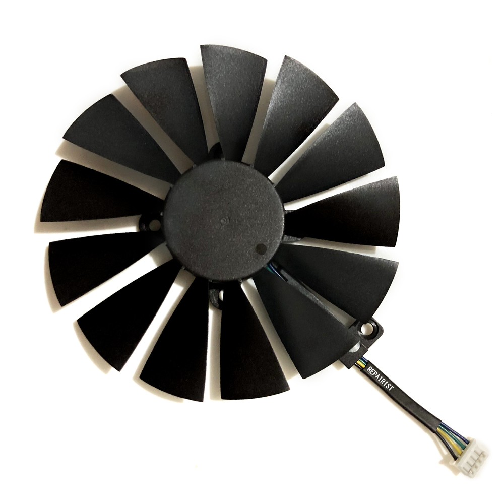 Купить с кэшбэком 95MM(100MM) 4Pin New PLD10010S12H Cooler Fan For ASUS ROG STRIX Dual RX 580 570 470 GTX 1050Ti GTX1080Ti Video Card Replacement