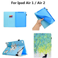 Case For IPad Air 1 IPad Air 2 PU Leather Flip Folio Smart With Soft TPU
