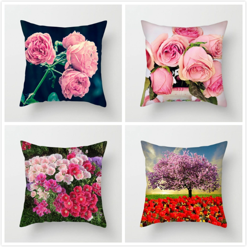Fuwatacchi Sundial Floral Cushion Covers White Rose Dandelion Flower Pillows Cover For Home Sofa Decorative Pillowcases 2019 Cushion Cover Aliexpress
