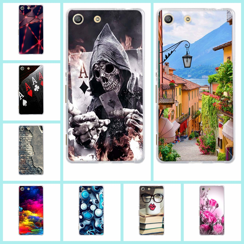 Painted Case For Sony Xperia M5 E5603 E5606 E5653 Soft Tpu Protective Phone Shell Back Cover For Sony Xperia M5 Dual Phone Bag