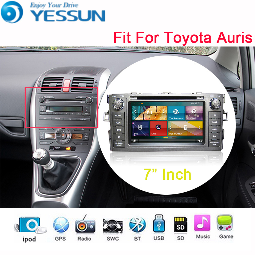 YESSUN Car DVD Player Android Wince System For Toyota Auris Autoradio Car Radio Stereo GPS Navigation Multimedia Audio Video yessun for mazda cx 5 2017 2018 android car navigation gps hd touch screen audio video radio stereo multimedia player no cd dvd