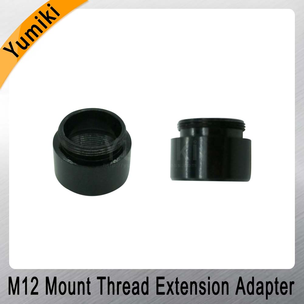 Image 2 - Yumiki 2pcs/lot Mount Thread Extension Adapter Zinc Alloy Extender M12 Lens Extension Ring for MTV Interface CCTV Lens-in CCTV Parts from Security & Protection