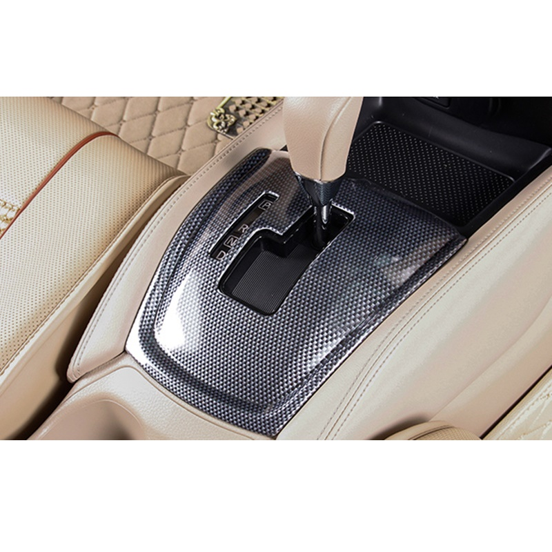 ABS Carbon Peachwood Veins Gear Control Panel Cover Sticker <font><b>Suitable</b></font> <font><b>for</b></font> Nissan X trail X-trail Rogue T32 2014 2015 Accessories