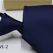 35a5e4a60132 25 Colors Pre-tied NeckTie Mens Skinny Zipper Ties Red Black Blue Solid  Color Slim