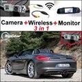3 in1 Специальные Wi-Fi Камера + Беспроводной Приемник + Зеркало монитор Легко DIY Система Парковки Для Porsche Boxster 987 981 Panamera