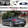 3 in1 Special Wifi Camera + Wireless Receiver + Mirror Monitor Easy DIY Parking System For Porsche Boxster 987 981 Panamera