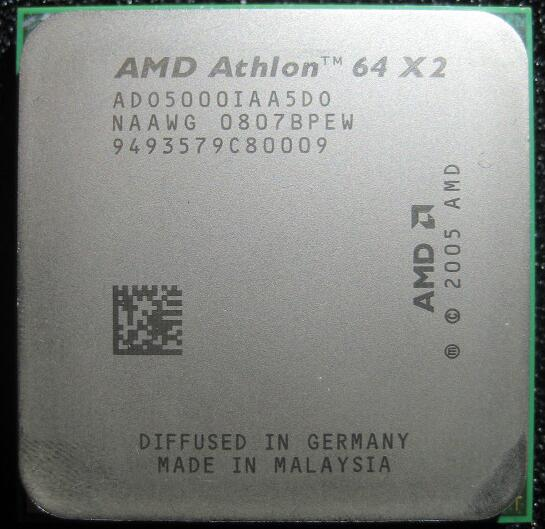 AMD Athlon X2 5000X2 5000 + 2.6 GHz ADO5000IAA5DO ADO5000IAA5DU ADO5000IAA5DS Dual-Core CPU Processeur Socket AM2 940pin