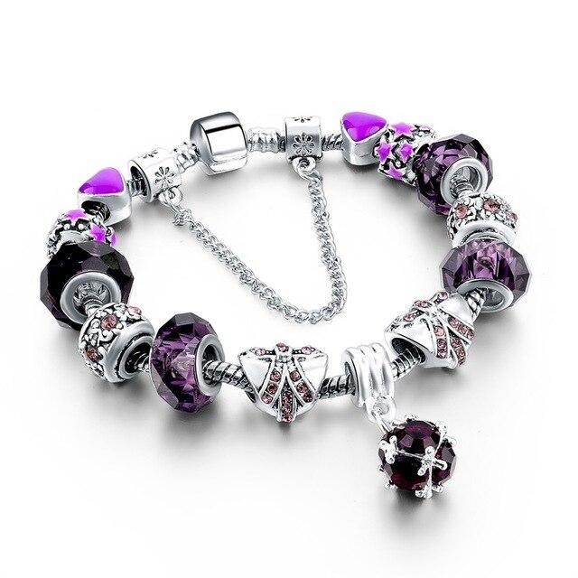 Chicvie винтажный черный браслет с натуральными камнями для