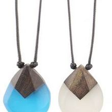 Accessories new solid wood resin pendant national style pendant handmade fashion men