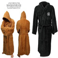 Star Wars Jedi Knight Robe Deluxe Bath Robe Cosplay Costume Brown Robe Free Shipping