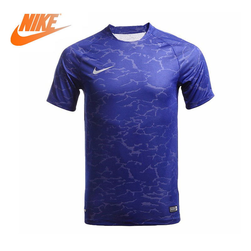 Original Authentic NIKE Men's Soccer T-shirts Short Sleeve Sportswear Breathable Knitted Quick Dry Soccer Jerseys 777546-455 nike brasil n98 authentic soccer jacket royal blue small