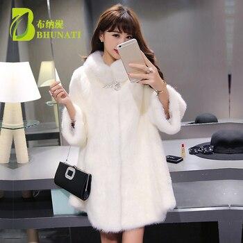 Fashion Winter Women Faux Fur Coat White Long Sleeve Stand Collar Jacket Warm Artificial loose Fox Fur Coats Plus Size 6XL