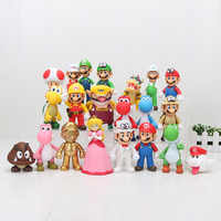 8 ~ 15cm Super Mario Bros odisea Bowser Koopa Troopa Yoshi, Mario Luigi Wario Donkey Kong de figura De Seta juguetes muñecas modelo