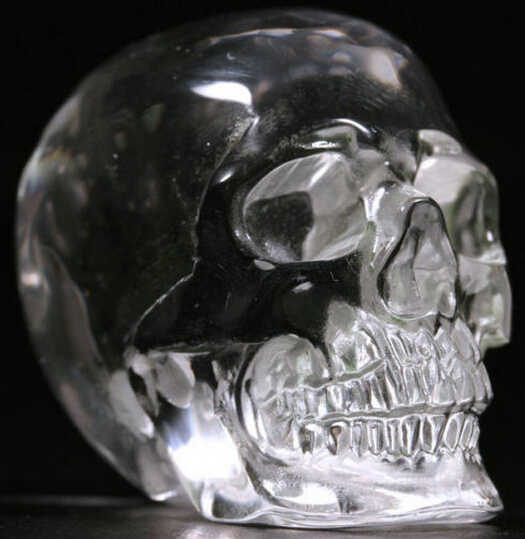SUIRONG---412++++  Quartz Rock Carved Crystal Skull ,Realistic,Healing