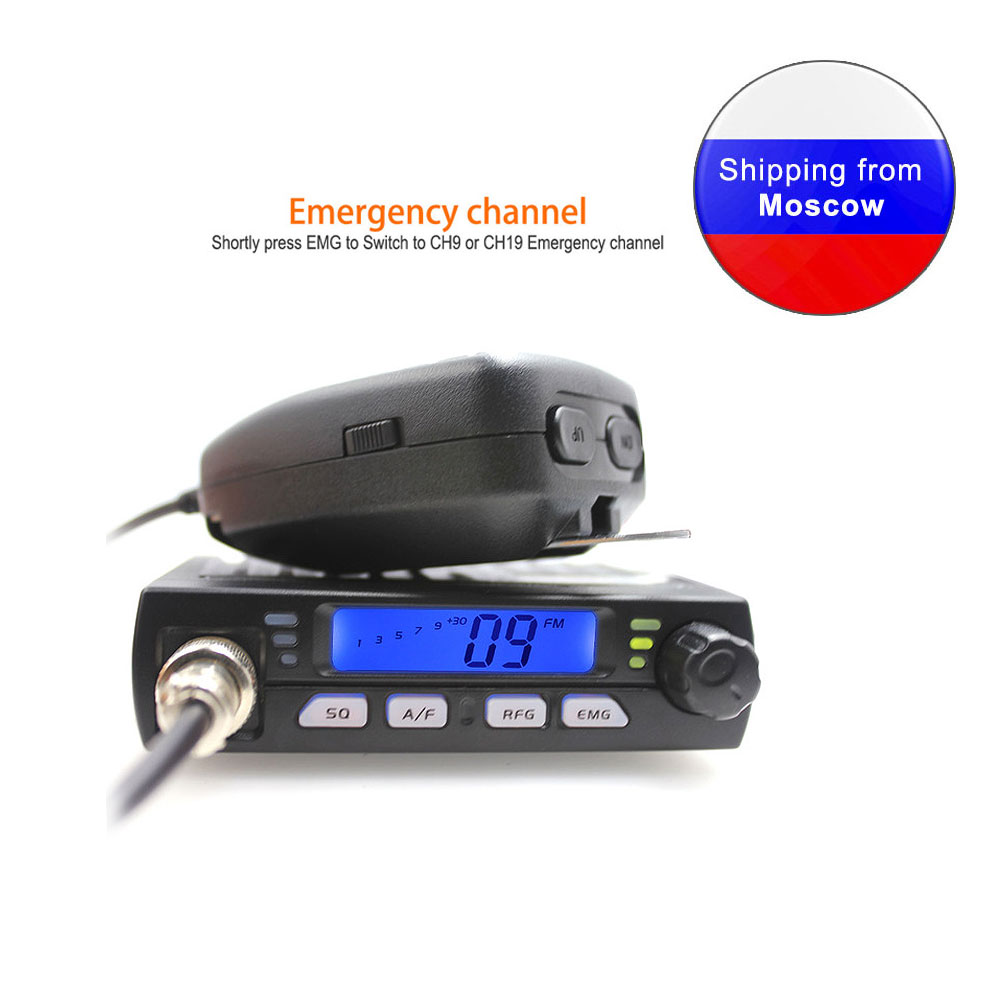 New ANYSECU Mini Mobie Radio CB-40M 25.615-30.105MHz 10M Amateur 8W AM/FM Citizen Band CB Radio AR-925