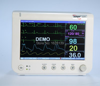 New JPD 800A 7 Patient Monitor/ Six parameters standard / Multi parameter Monitor, ECG monitor, vital sign monitors CE approval