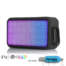 colourful LED flashlight transportable Bluetooth speaker bass Lantern Out of doors bicycle card subwoofer NFC TF card play operate