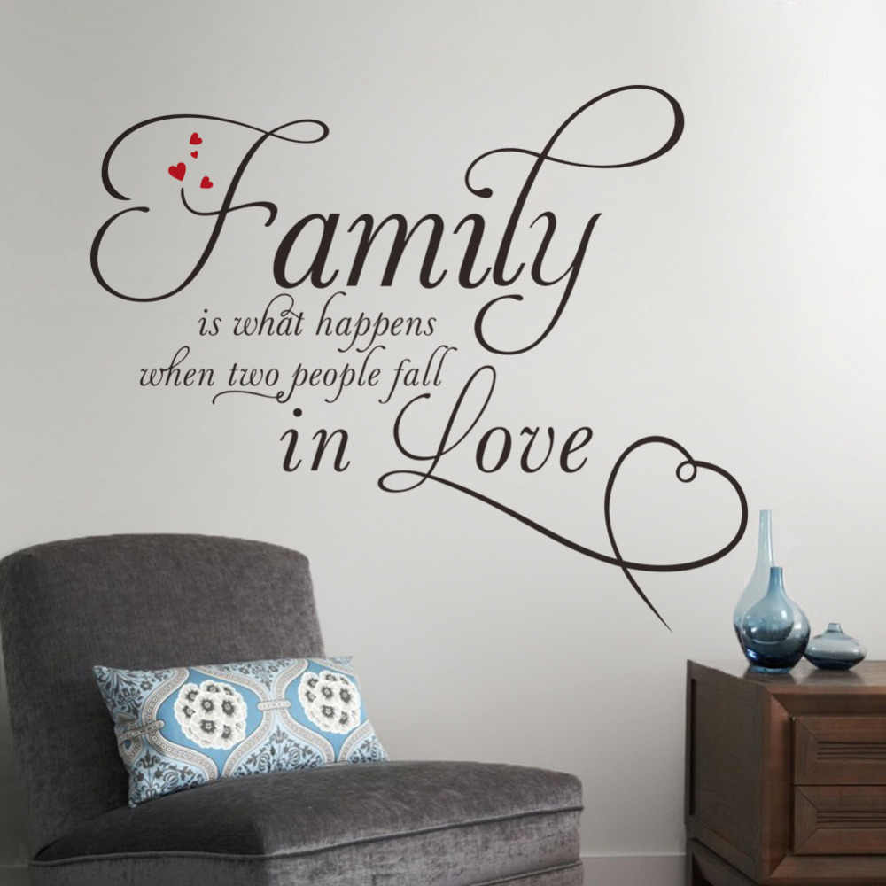 27aa95875755 Detail Feedback Questions about Family in love home decor creative quote  wall decals removable vinyl wall stickers Decor Art Removable Wall Sticker  on ...
