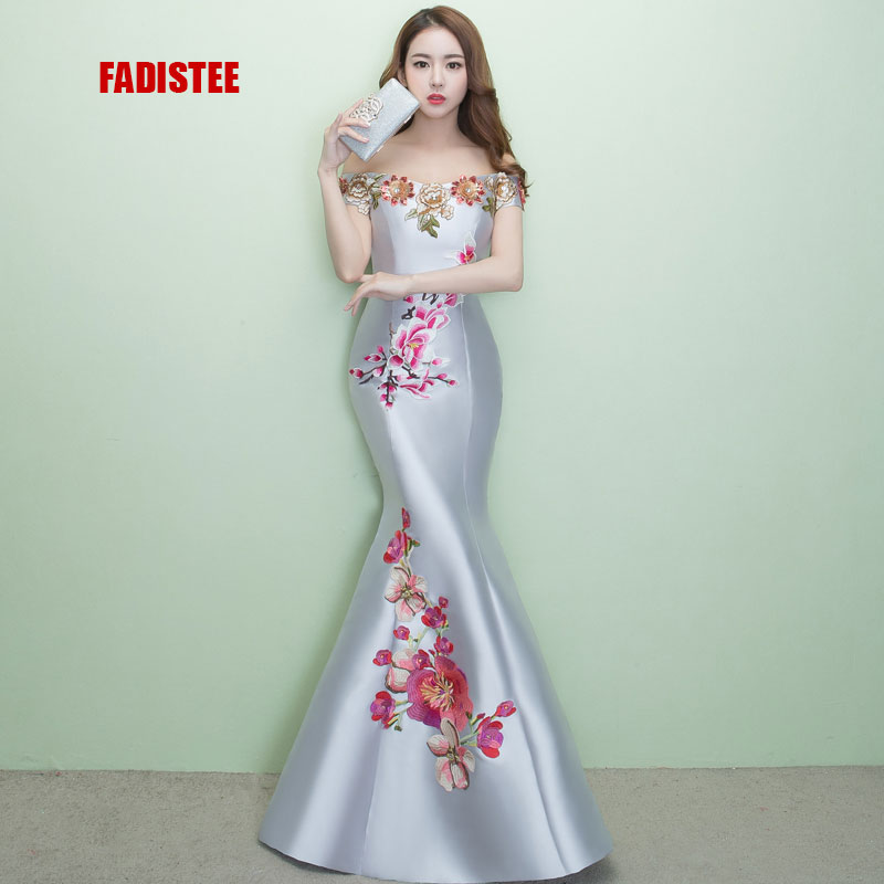 FADISTEE New arrival elegant prom party dress evening dresses Robe De Soiree gown lace style trumpet