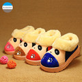 2015 Winter 1 to 5 years old kids slippers cotton keep warm children's household shoes good quality baby boy girl cartoon shoes