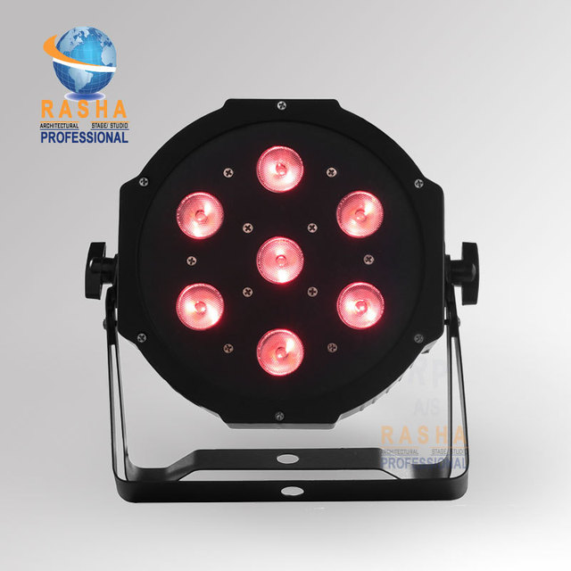 Chair Air Post Xmas Promotion NEW 7*12W Quad LEDs (RGBA/RGBW) NEW Mega Quadpar Profile , DMX Par Can,RASHA PAR LIGHT