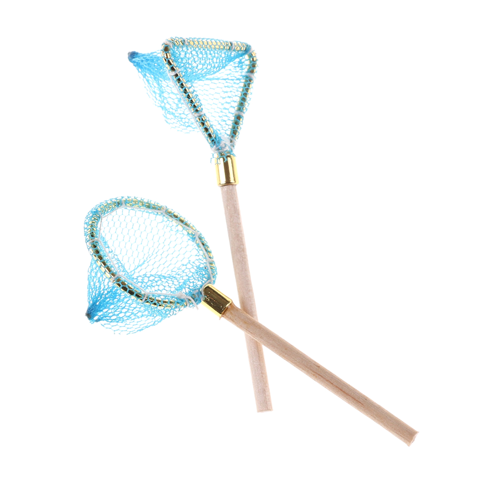 1:12 Dollhouse Miniature Wood Fishing Net Model Doll Life Scene Decoration Outdoor Sports Toy For Kid Child Gift Dolls Acce