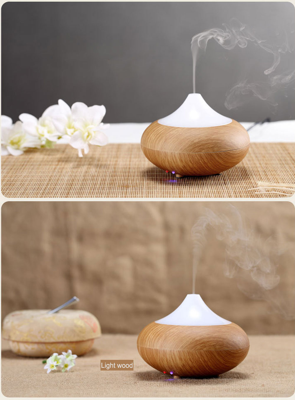 GX Diffuser Air Ultrasonic Humidifier Perfume Aromatherapy Diffuser Humidifier Air Purifier LED Light For Home Conditioning household appliances air purifier aroma diffuser for home car air freshener air conditioning outlet perfume fragrant fresheners