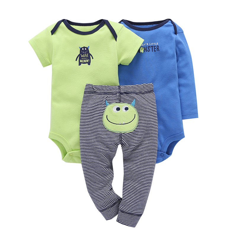 Children brand Body Suits 3PCS Infant Body Cute Cotton Fleece Clothing Baby Boy Girl Bodysuits 17 New Arrival free shipping 12