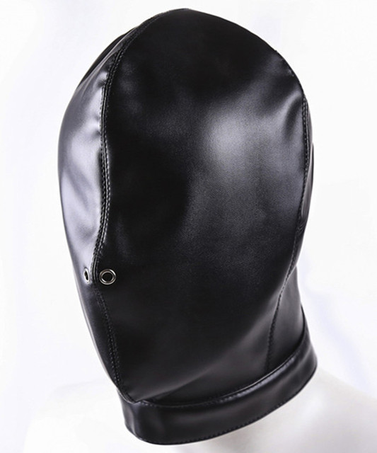 Fetish Erotic Sex Products Flirt Toys For Women And Men,BDSM Bondage Mask Soft Leather Hood Headgear In Adult Games For Couples