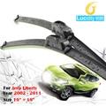 Coche parabrisas limpiaparabrisas de goma suave bracketless parabrisas rascador para jeep liberty 2002-2011