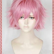 My Hero Academia Cosplay Wig Ashido Mina Boku no Hero Academia Pink Short