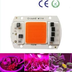 Hydroponice AC 220 V 20 watt 30 watt 50 watt 120 Watt cob led wachsen licht chip gesamte spektrum 380nm-840nm für Indoor-Anlage Sämling Wachsen und Blume